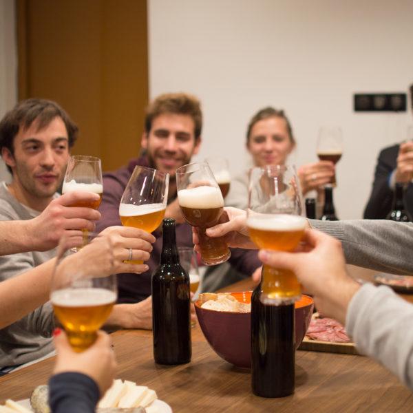 Dégustation de bières entre amis