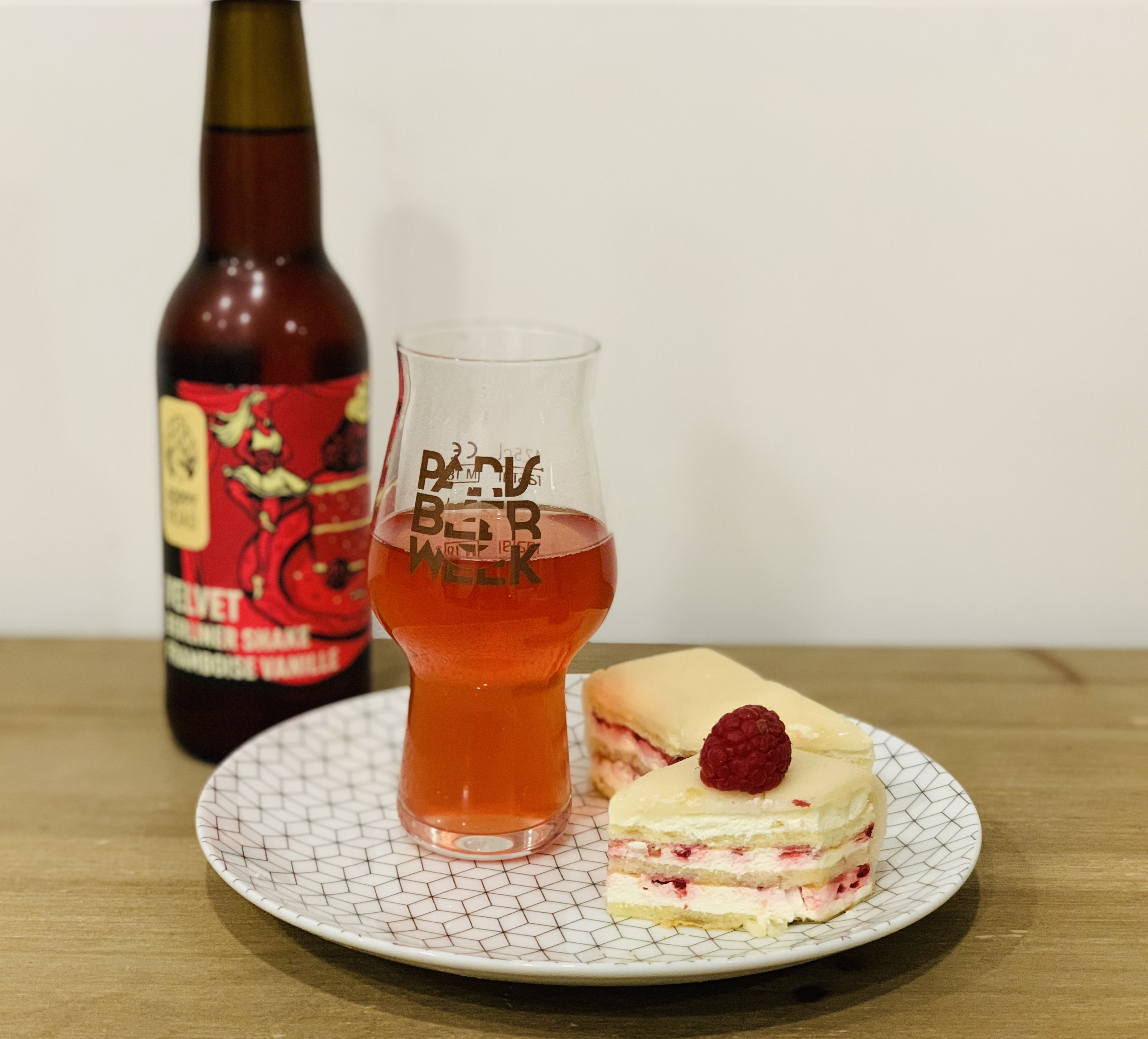 Accord tarte sucrée framboise & bière Berliner weisse